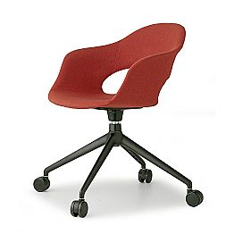 Swivel Office Chair with Wheels Upholstered Made in Italy - Scab Design Lady B