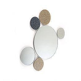 Round mirror Addo, made in Italy, modern design, glitter & glass