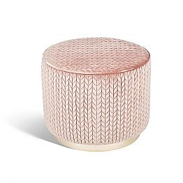 Modern design pouffe Belle 1, with fabric upholstery