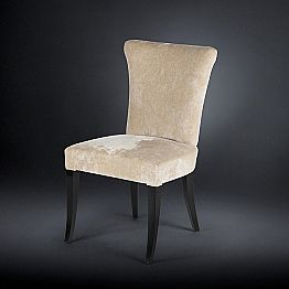 Set of two upholstered chairs Dita, ecru colour, belle époque style