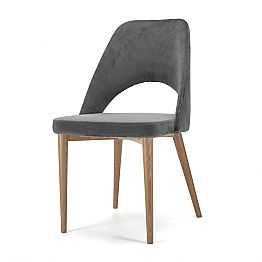 Upholstered Chair with Ash Wood Base Made in Italy, 4 Pieces - Lorenza