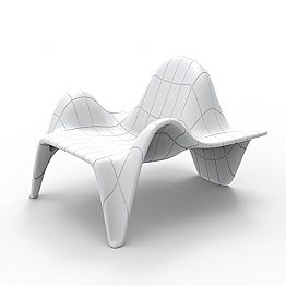 Vondom F3 outdoor armchair in polyethylene, contemporary design, 2 pieces