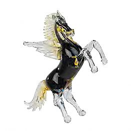 Horse-Shaped Statue with Wings in Murano Glass Made in Italy - Voluptus