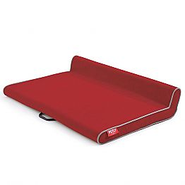 Dog Bed with Handle, in Stain-Resistant Microfiber, Made in Italy - Corner