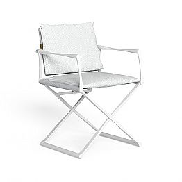 Outdoor Folding Director's Chair with Luxury Armrests - Riviera by Talenti