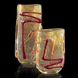 Red and Gold Murano Glass Pot Made in Italy – Campisi