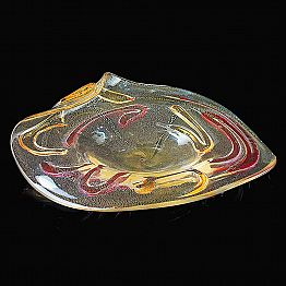 Gold, Red and Amber Murano Glass Plate Made in Italy – Campisi