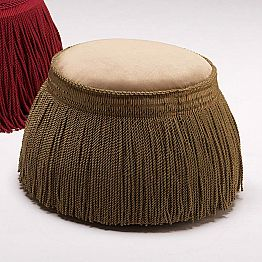 Upholstered lounge pouf Simon Ø 60 cm, luxury design made in Italy