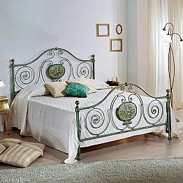 Italian wrought iron double bed Rachael, classic design