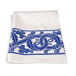 Italian Handcrafted Linen Dishcloth with Hand Printed Drawing