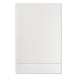 White or Natural Linen Bath Towel Made in Italy, 2 pieces - Chiana