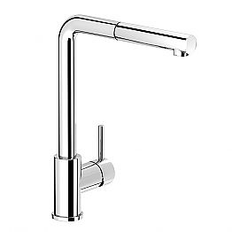 Brass Basin Mixer with Modern Swivel Spout Made in Italy - Bonsu