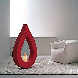 Modern design freestanding bioethanol fireplace Todd, made in Italy