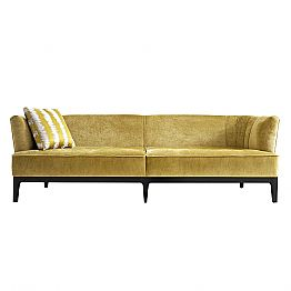 Design sofa upholstered in beech wood Grilli Kipling made Italy