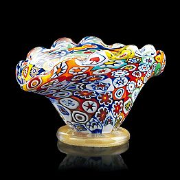 Multicolor and 24K Gold Murano Glass Pot Made in Italy – Marika