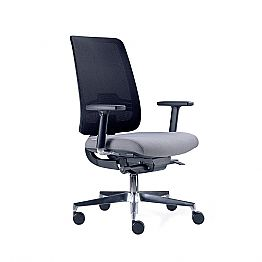 Office Chair with Swivel Wheels in Black and Fabric Tecnorete - Menaleo