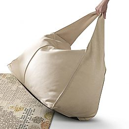 Leather pouf Bag made in Italy by the Italian brand My Home