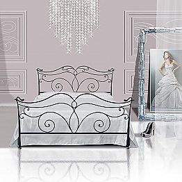 Wrought-iron single bed Febo