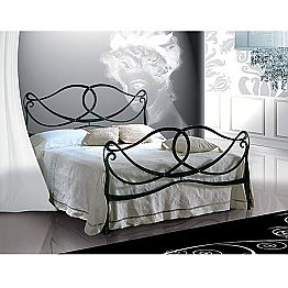 Wrought-iron double bed Orchidea