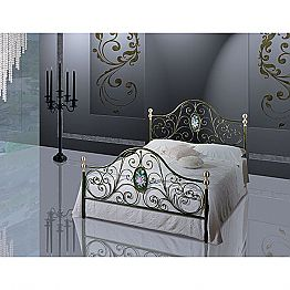 Wrought-iron double bed Turchese