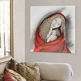 Hand-decorated Painting Madonna by Viadurinimilano Decor, made in italy