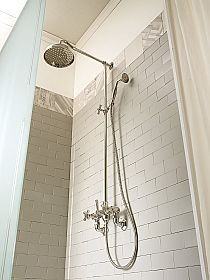 External Shower Mixer with Brass Sliding Arm Made in Italy - Silvana