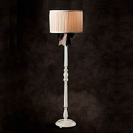 Vintage design ivory silk floor lamp Chanel