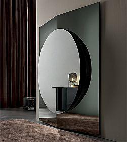 Modern Design Wall Mirror Composed of 3 Panels Made in Italy - Bristol