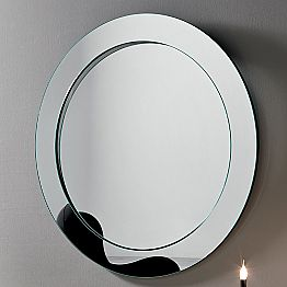 Round Wall Mirror with Inclined Frame Made in Italy - Salamina