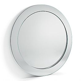 Modern Round Free Standing Mirror with Inclined Frame Made in Italy - Salamina