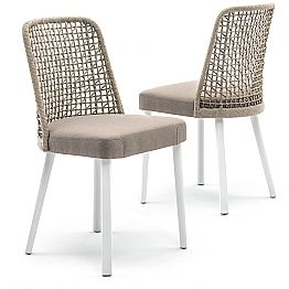 Design outdoor chair in fabric and aluminum, Emma by Varaschin