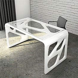 Modern design Solid Surface office desk Illa, made in Italy