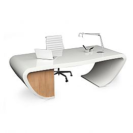 Modern design office desk made in Italy, Miranda