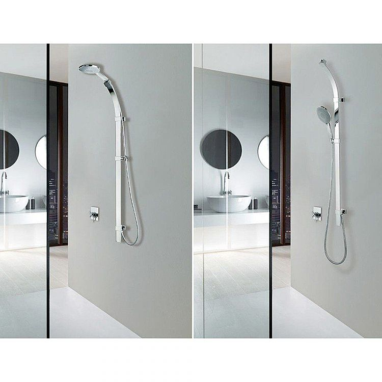 Bossini   shower side rail set Flat with water outlet